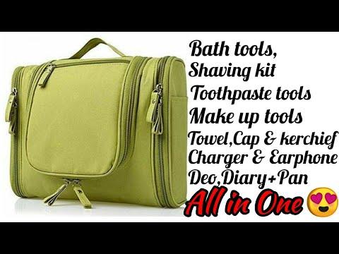 Multifunctional Travel Bag | Makeup Organiser | Cosmetic Case Household | Grooming Kit Storage |