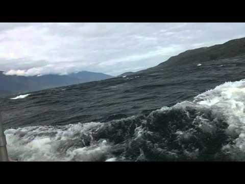 Johnstone Strait, Sailing 30 knot winds, June 2012