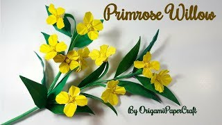 Origami Flower: Origami Primrose Willow Flower By OrigamiPaperCraft