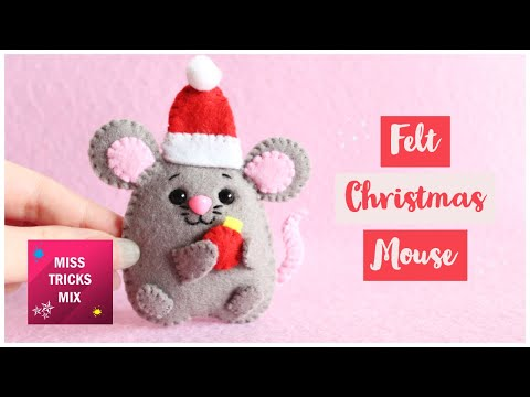 DIY: Christmas Mouse Felt Ornament | 2020 Symbol | Christmas Crafts.