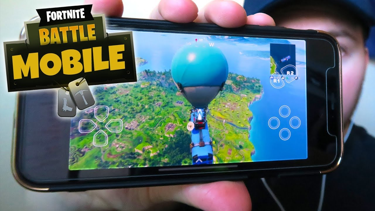 Fortnite On Mobile Edition First Gameplay Iphone Ios Android