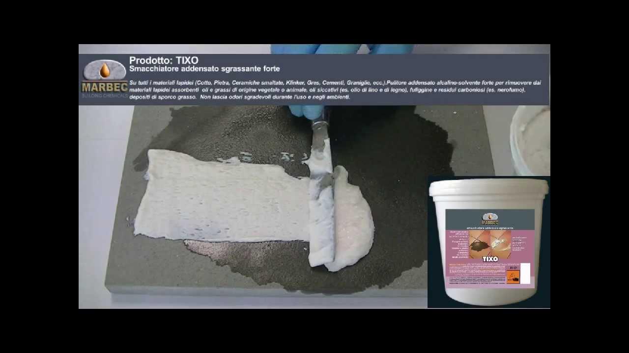 Prodotto: TIXO   Smacchiatore Addensato Alcalino Forte Per Macchie Di Olio  E Grasso   YouTube