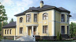 Проект дома 350 кв.м. с сауной. Обзор дома. Проекты Домов и Строительство под ключ.