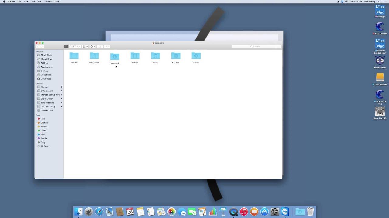 the downloads folder mac disappeared