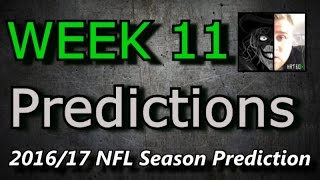 Week 11 - 2016 NFL Predictions