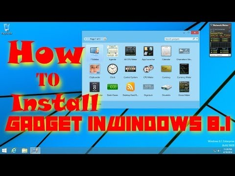How To Add Gadgets Back To Windows 8.1