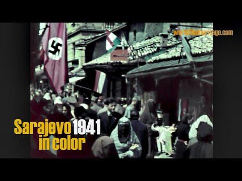 Sarajevo 1941 in color - filmed after german/italian invasion during wwII
