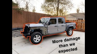 Rebuilding a Wrecked 2020 Jeep Gladiator (part 2)