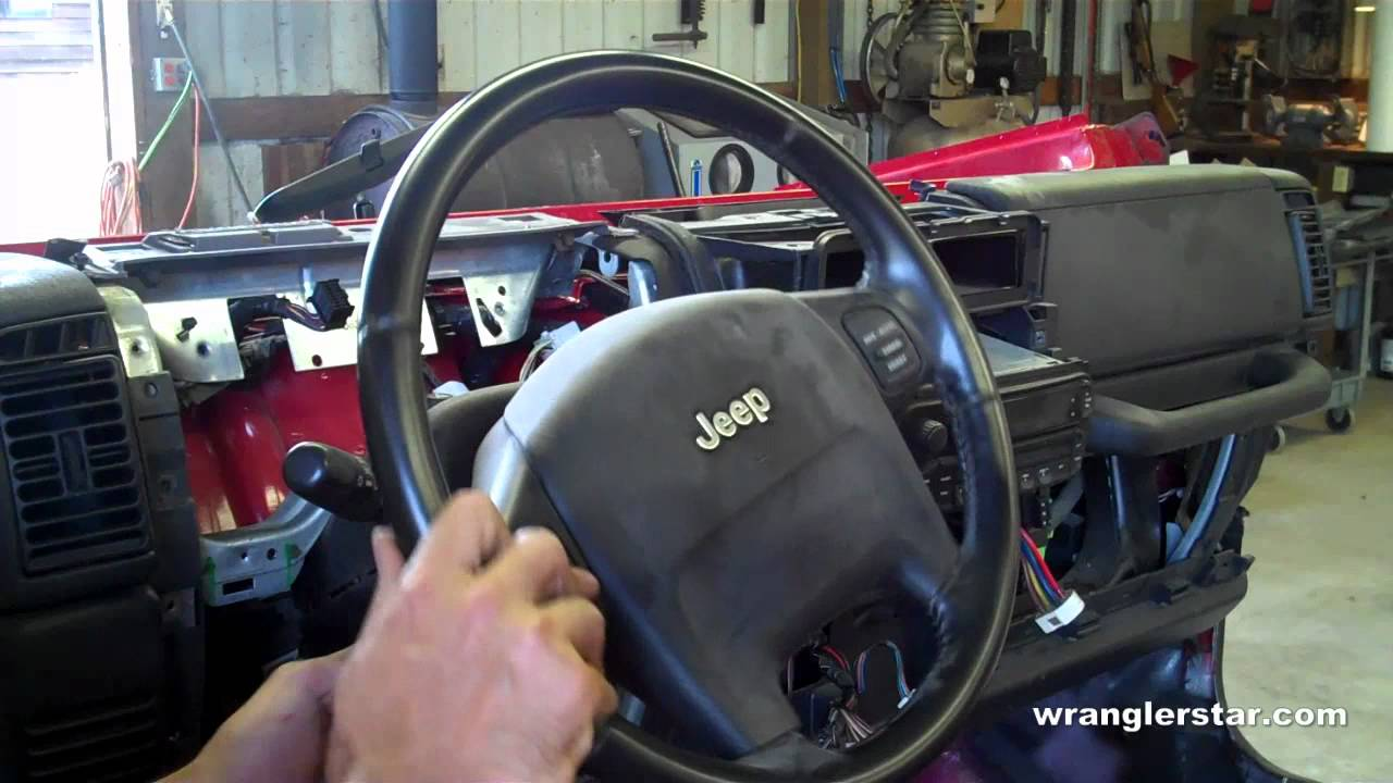 How To Remove Jeep Wrangler Airbag Youtube Cj7 Clock Wiring
