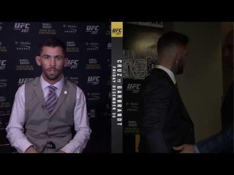 UFC 207: Cody Garbrandt Heated Exchange with Dominick Cruz