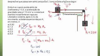 Exercício resolvido 5 - Aplicações das leis de Newton