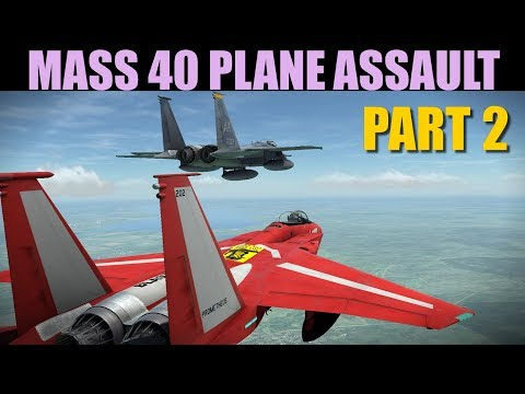 Oceana Campaign: MASSIVE Final 40 Plane Assault Against Red Airbase | Part 2 Of 2 | DCS WORLD