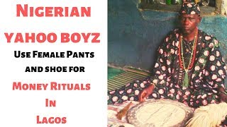 Nigerian yahoo boyz Use Female Pants and shoe for Money Rit*als In Lagos
