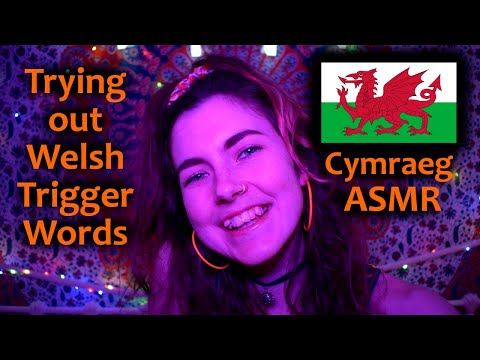 ASMR: Trying Out Welsh/Cymraeg Trigger Words! [Popty Ping, Whispering, Hand Movements, Mouth Sounds]