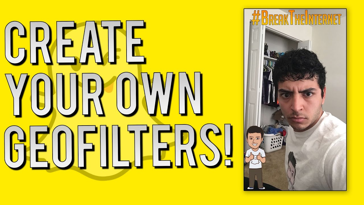 Snapchat update how to make your own personal geofilters on demand filters youtube for Free geofilters