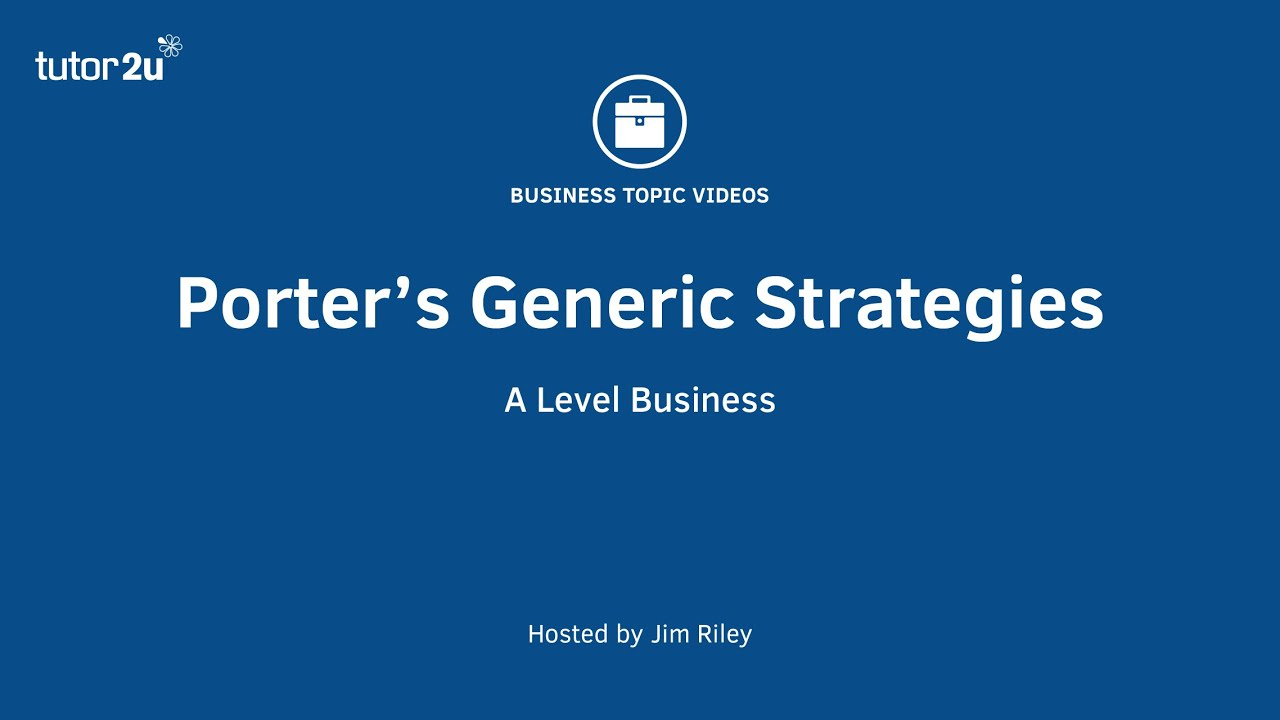 porters generic strategy essay To show how to develop strategies based on competitive analysis and  porter1  (1980) and (1985) looked at the forces influencing competition in an industry and  the  according to porter1 (1980) there are three generic approaches to.