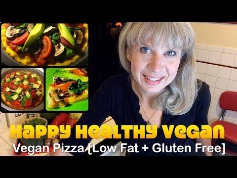 Vegan Corn Meal Pizza Recipe [Low Fat, Gluten Free, No Salt or Oil]