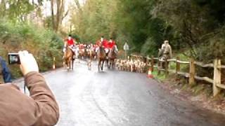 The annual day Boxing Day Hunt prepares to hunt down some foxes. Fi...