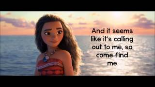 Video Moana How Far I'll Go Lyrics Auli'i Cravalho download MP3, 3GP, MP4, WEBM, AVI, FLV Desember 2017