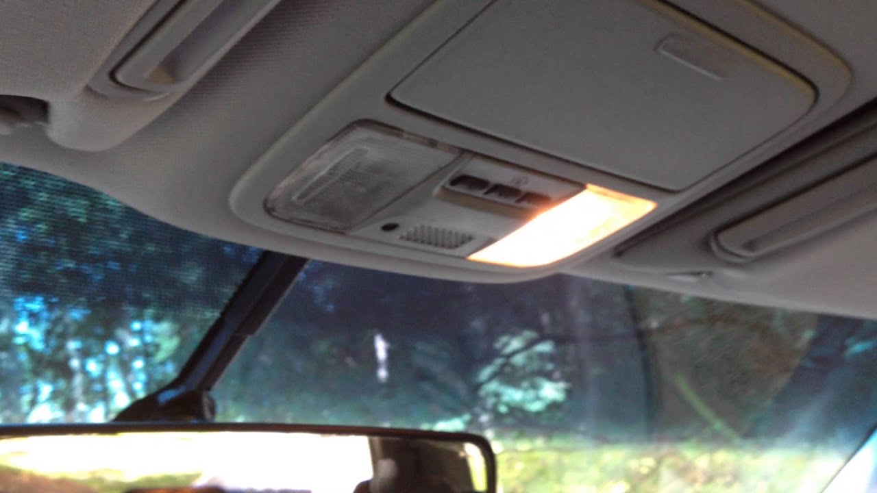 2006 Honda Pilot Ex MapDome light problem  YouTube