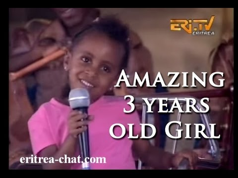 ኤርትራ Amazing Eritrean 3 year old Ba  Melody in Medeb Teawet 2015