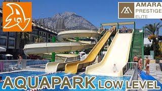 Amara Prestige 5* Аквапарк. Водные горки. Нижний уровень. Aquapark. Water slides low level
