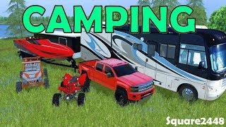 Farming Simulator 17 Camping | Speed Boat | Toys | RV Park | High Country