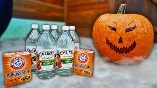 BAKING SODA & VINEGAR EXPLODES INSIDE PUMPKIN!