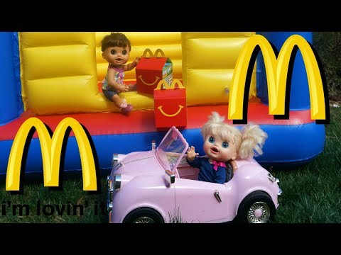 BABY ALIVE Outing To McDonalds And Pumpkin Plays With Audrey In Bouncy House!