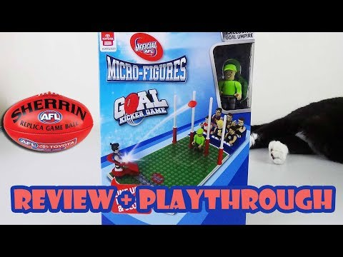 AFL Micro-figures Goal Kicker 'Board' Game Review & Playthrough | Board Game Night
