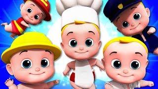 Five Little Babies | Junior Squad | Kindergarten Video | Nursery Rhymes For Children By Kids Tv