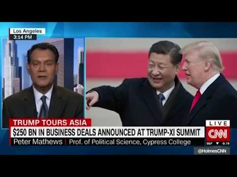 On CNN Peter Mathews Discusses Trump US China Trade Business Deals