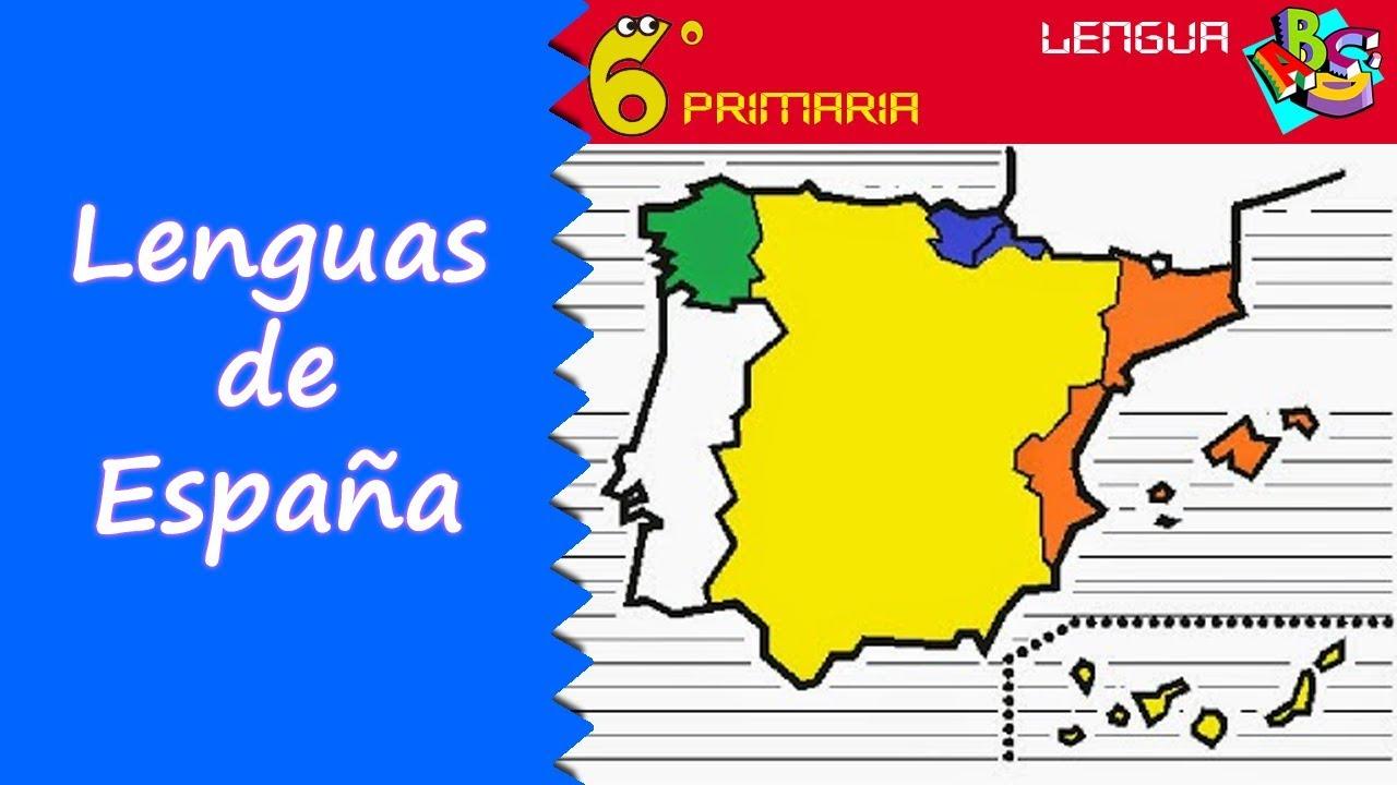 Mapa Lenguas De España.Lenguas De Espana Lengua 6º Primaria