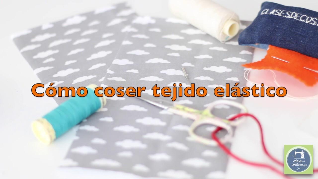 Cómo coser tejido elástico o de punto con la máquina de