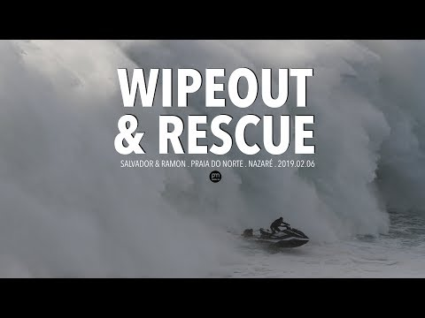 Wipeout & Heroic Rescue . Raw Footage @ Nazaré, Portugal - 2019.02.06 [Surf, Big Waves, 4K]