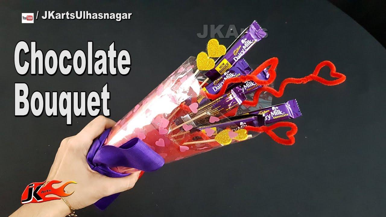 Diy Easy Chocolate Bouquet Valentine S Day Gift Idea Jk Arts
