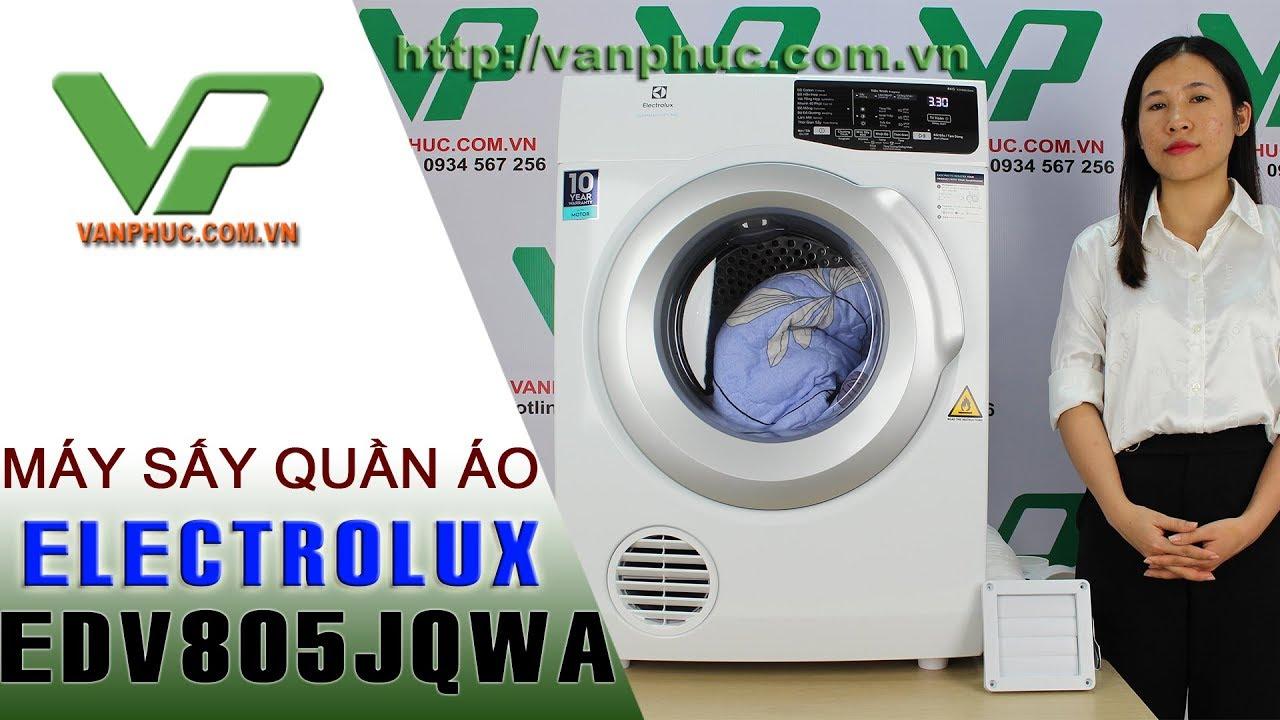 Giới thiêu máy sấy quần áo Electrolux EDV805JQWA Công suất sấy 8kg
