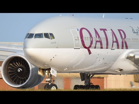 ULTRA RARE Qatar Airways 777-2DZ(LR) CLOSE-UP SPOOL from Melbourne Airport