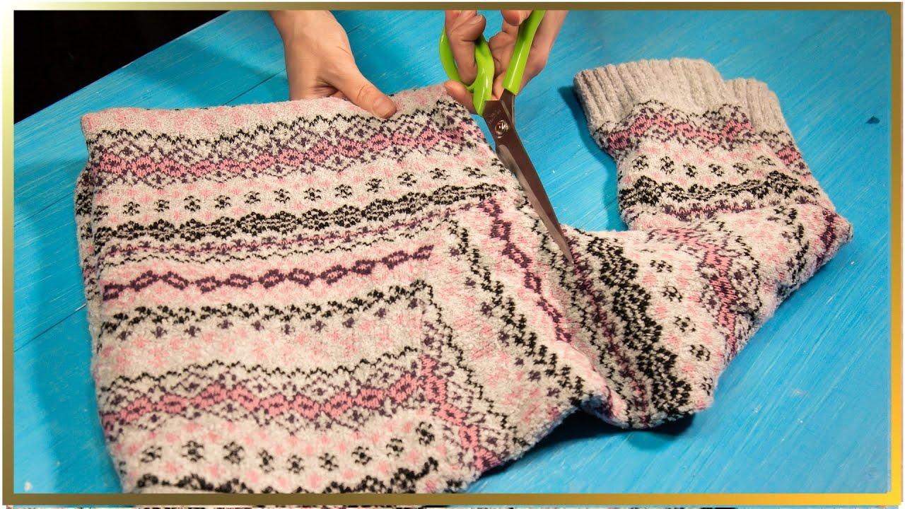 Vrei o căciulă nouă, dar nu ai bani? Poți oase simplu și rapid dintr-un pulover vechi!