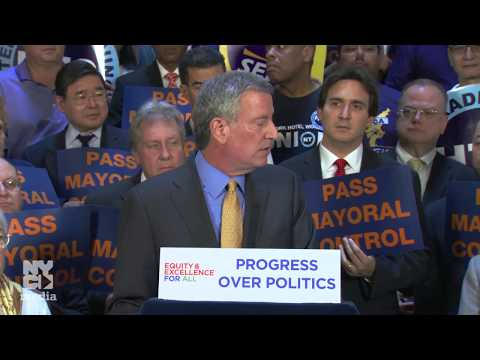 Mayor de Blasio Delivers Remarks Urging Albany to Extend Mayoral Control of NYC Schools