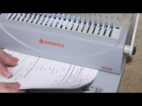 Marigold 19-hole Letter Size Comb Ring Binding Machine #Review