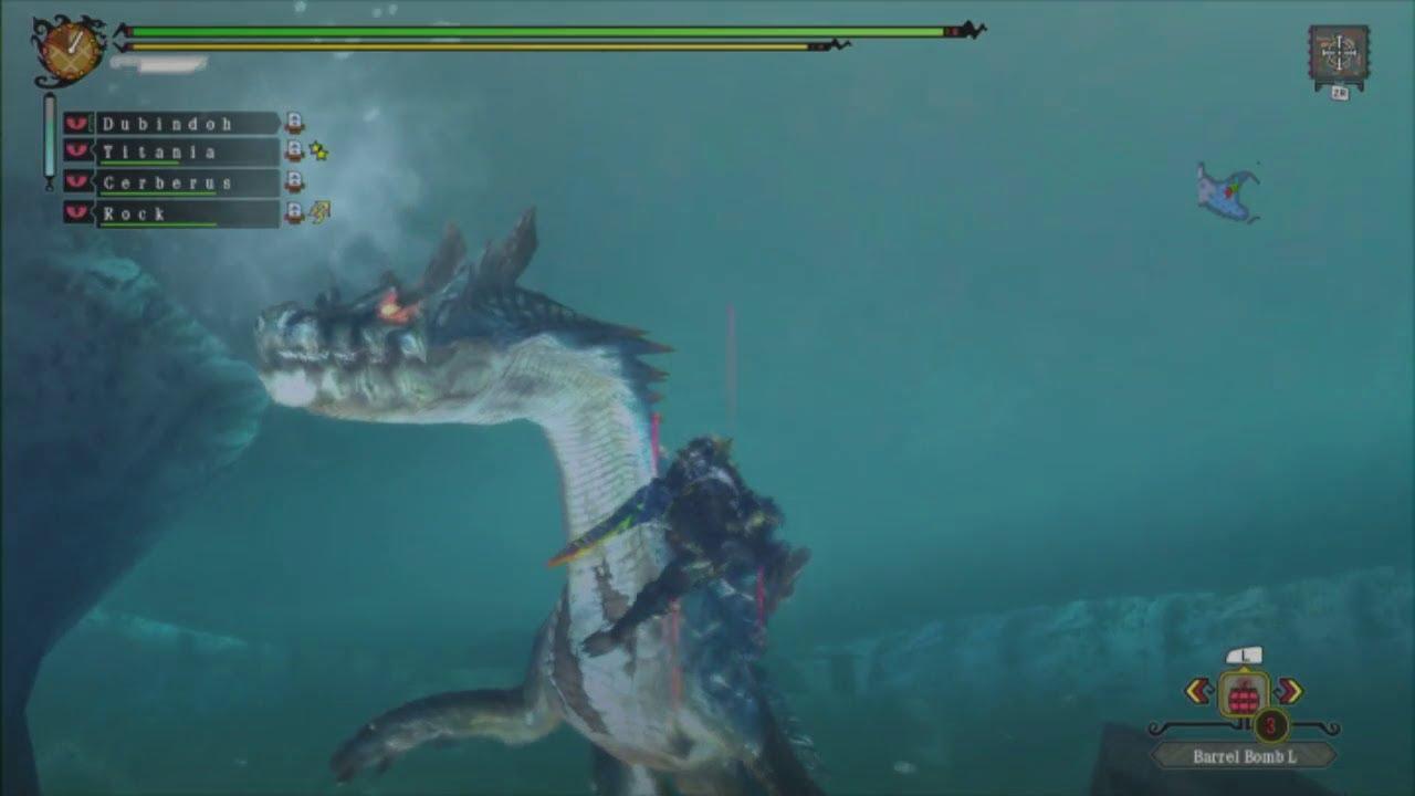 Monster Hunter 3 Ultimate Underwater Shenanigans