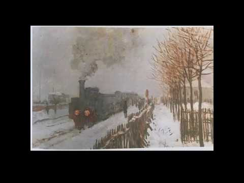 drawing-train-in-the-snow-by-claude-monet