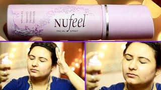Sleepy Komal's NuFeel facial spray first impression  {Delhi fashion blogger}