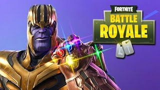 Fortnite Battle Royale (PS4) NEW Thanos Mode Gameplay