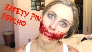 Safety Pin Psycho SFX Halloween Tutorial | spreadinsunshine15