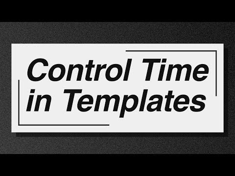Control Time in Templates - Adobe After Effects tutorial