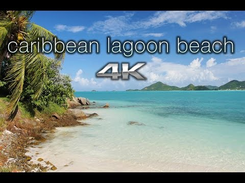 CARIBBEAN LAGOON BEACH 4K 1 HR Nature Relaxation™ Scene/Screensaver - Antigua
