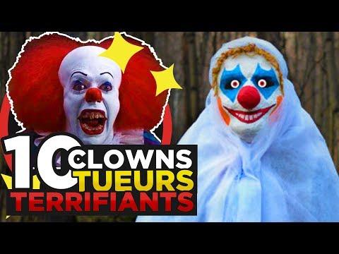 10 CLOWNS TUEURS TERRIFIANTS du CINEMA
