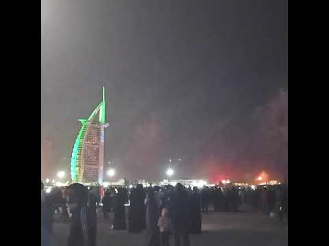 New Year 2021 Fireworks | Dubai | Burj Al Arab